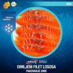 Dimljeni filet lososa  200g
