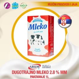 Dugotrajno mleko 2.8%mm 1l