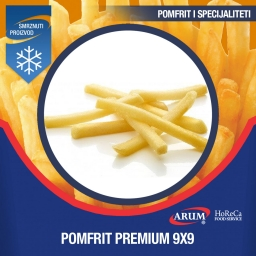 Eco pomfrit fries 9x9 premium 4x2.5 kg