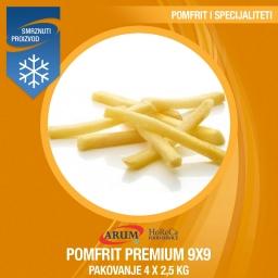 Eco pomfrit fries 9x9 premium 4x2.5 kg