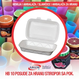 Hb 10 posude za hranu stiropor sa poklopcem 125/1