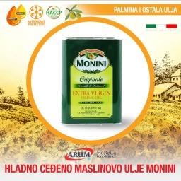 Hladno cedjeno maslinovo ulje 3l monini