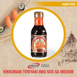Kikkoman teriyaki bbq sos sa medom 250ml (6/1#)