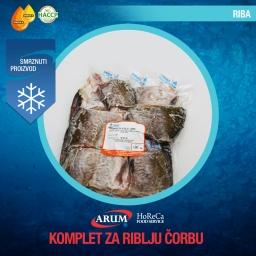 KOMPLET ZA RIBLJU CORBU cca 700g (cca 5kg/#)