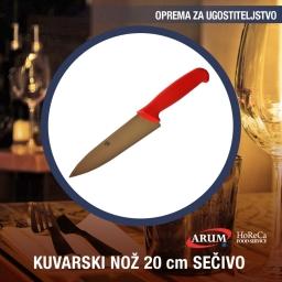 Kuvarski noz 20 cm secivo