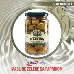 Masline zelene sa paprikom 720gr