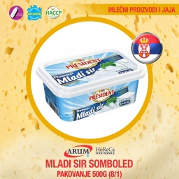 Mladi sir 500gr somboled (8/1#)