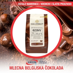 Mlecna belgijska cokolada 33,6%  2,5kg