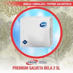 Premium salveta bela 2 sl 25/1 38x38
