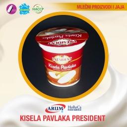 President kisela pavlaka 400gr (6/#)