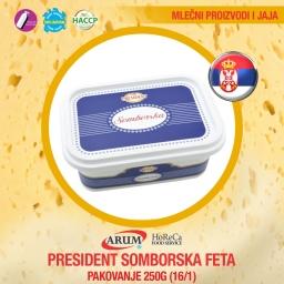 President somborska feta 250g (16/1#)