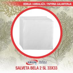 Salveta bela 100/1 2 sl 33*33