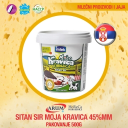 Sitan sir moja kravica 45%mm 500gr