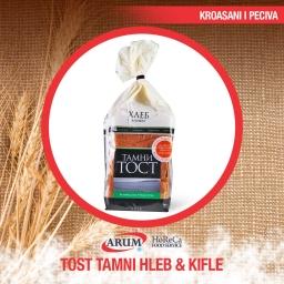Tamni tost hleb i kifle 0.500 (18/1#)
