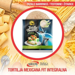 TORTILLA MEXICANA FIT 390gr Integralna 6/1 (20/#)