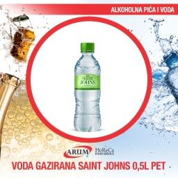 Voda gazirana 0.5l pet saint john`s (12/1#)