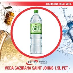 Voda gazirana 1.5l pet saint john`s (6/1#)