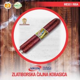 Zlatiborska cajna kobasica 250g slice (10kom/#)
