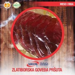 Zlatiborska govedja prsuta 250g slice (10/#)