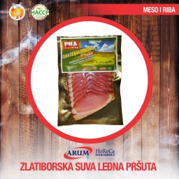 Zlatiborska suva svinjska ledjna prsuta 250g slice (10/#)