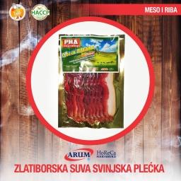 Zlatiborska suva svinjska plecka 250g slice (10/#)